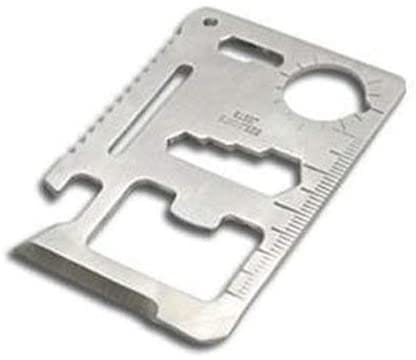 11 in 1 Function Credit Card Size Survival Pocket Tool (10-Pack)
