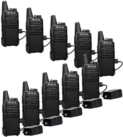 Retevis RT22 Walkie Talkies Rechargeable,Long Range Two Way Radio,2 Way Radio for Adults,