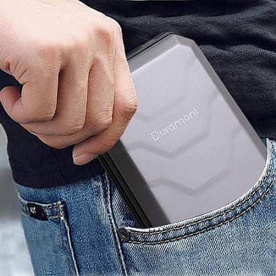 Duramont Aluminum Wallet Credit Card Holder With RFID Blocking Protection