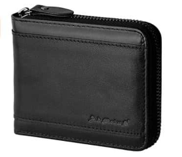 Mens RFID Blocking Wallets Zipper Leather Wallet for Men