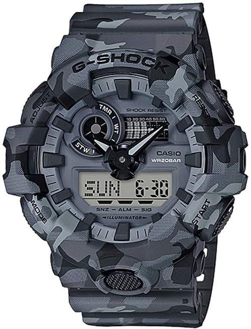 Casio G-Shock GA700CM Series Camo Wrist Watch