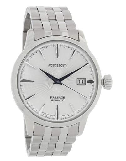 Seiko SRPB77 Presage Men's Watch Silver-Tone 40.5mm Stainless Steel